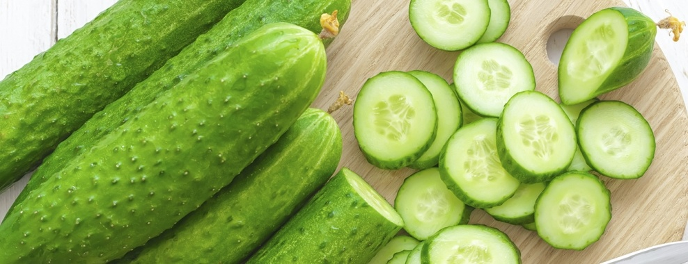 organic cucumbers sliced