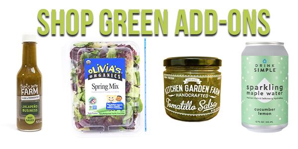 shop green add-on items