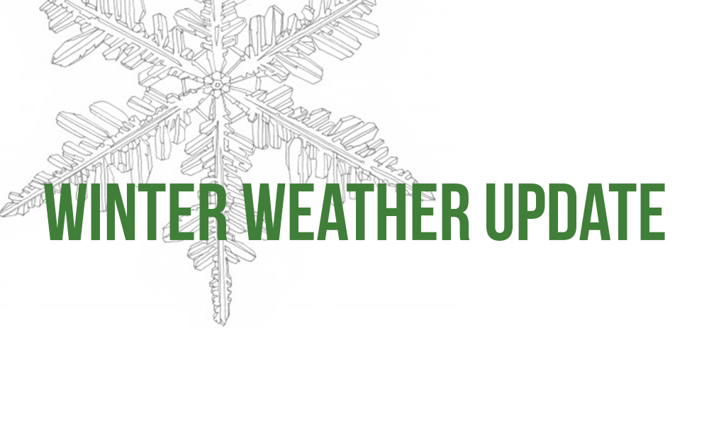 Important Weather Update - Adjusted Deliveries Thurs 12/17 & Fri 12/18